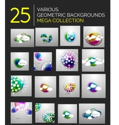 Abstract futuristic blurred shapes set vector