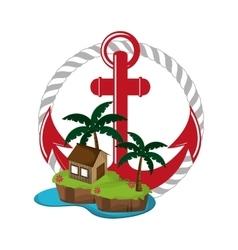 anchor emblem image vector image