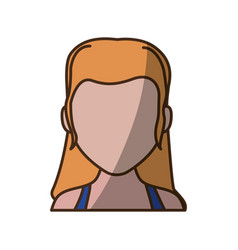 Anonymous faceless woman vector