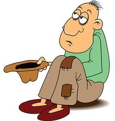 Beggar cartoon vector