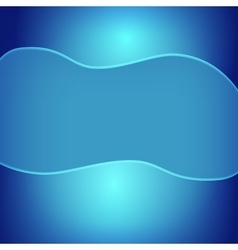 Blue abstract background with glossy trim and vector