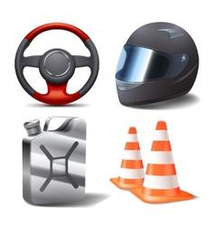 Car Racing Set vector image vector image