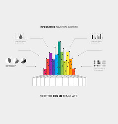 conceptual industrial growth infographic vector image vector image