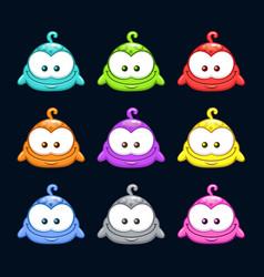 Cute cartoon colorful little blob characters set vector