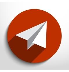Flat paper plane web icon vector