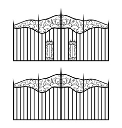 forged gate vector image