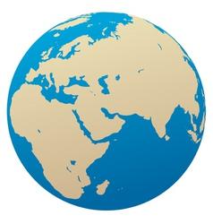 globe Africa eurasia vector image