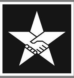 handshake form the star vector image