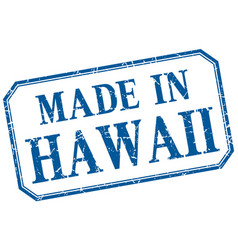 Hawaii - made in blue vintage isolated label vector