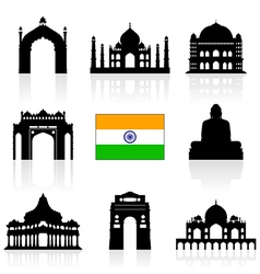 India Travel Icon vector image vector image