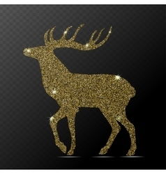 Isolated gold deer vector