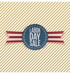 Labor Day Sale textile Emblem vector image