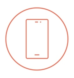 Mobile phone line icon vector