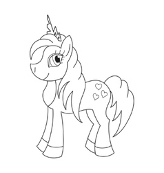 Royal pony with a magnificent mane and tail vector image vector image