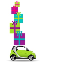 Small car gifts vector