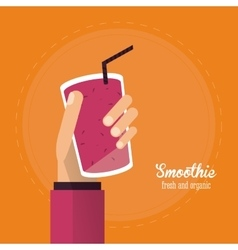 Smoothie juice glass drink healthy icon vector