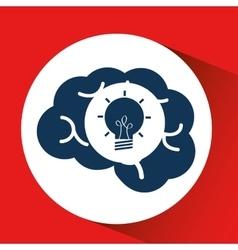 social media concept head and brain media vector image