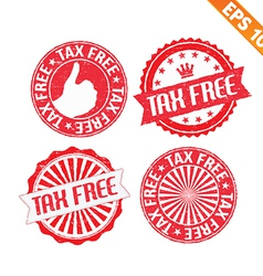 Stamp sticker tax free collection - - EPS10 vector image vector image