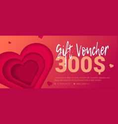 Trad gift certificate with embossed heart vector