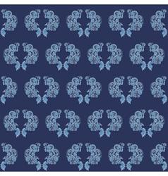 vintage seamless wallpaper blue vector image vector image