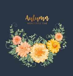 yellow autumn flowers vector image vector image