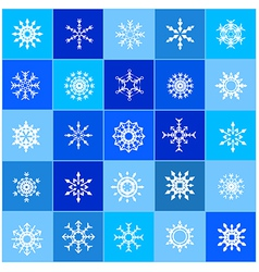 007 Christmas Snow Flakes 003 vector image