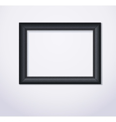 Stylish black photoframe vector