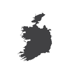 Ireland map silhouette vector