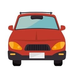 Red car vehicle vector