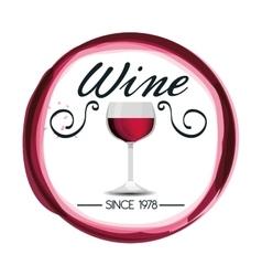 Best wine shop seal guaranteed vector
