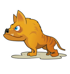 hyaenodon vector image