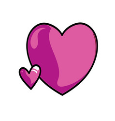 pink hearts on a white background vector image