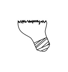 Bulb light drawing icon vector