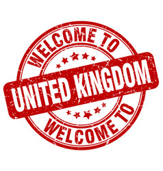 Welcome to united kingdom vector