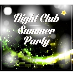 Disco party flyer vector