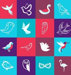 set of bird logos vector image