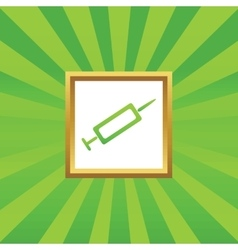 Syringe picture icon vector