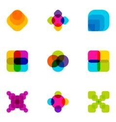 logo design elements set 04 vector image