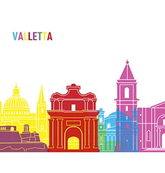 Valletta skyline pop vector