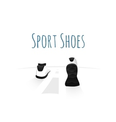 Sport shoes wellness running concept logo vector