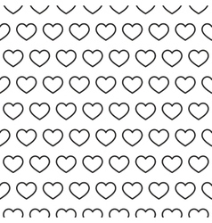 Hearts stripped geometric seamless pattern vector