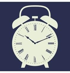 Clock on dark blue background vector image