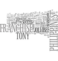 A business franchise philippines success story vector