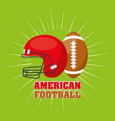 american football sport emblem icon vector image vector image