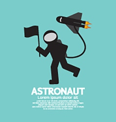 Astronaut with spaceship graphic vector