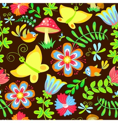 Birds and butterfly vector