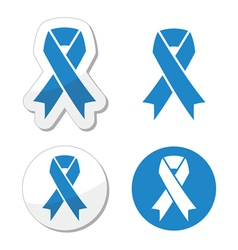 Blue ribbon - drunk driving child abuse symbol vector image vector image