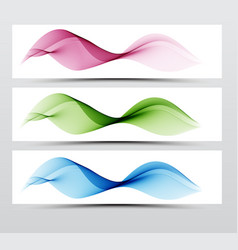 bright speed web swoosh futuristic wave line set vector image vector image