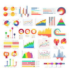 business graphics and charts vector image vector image