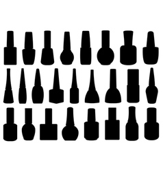 different nail polish bottles vector image vector image